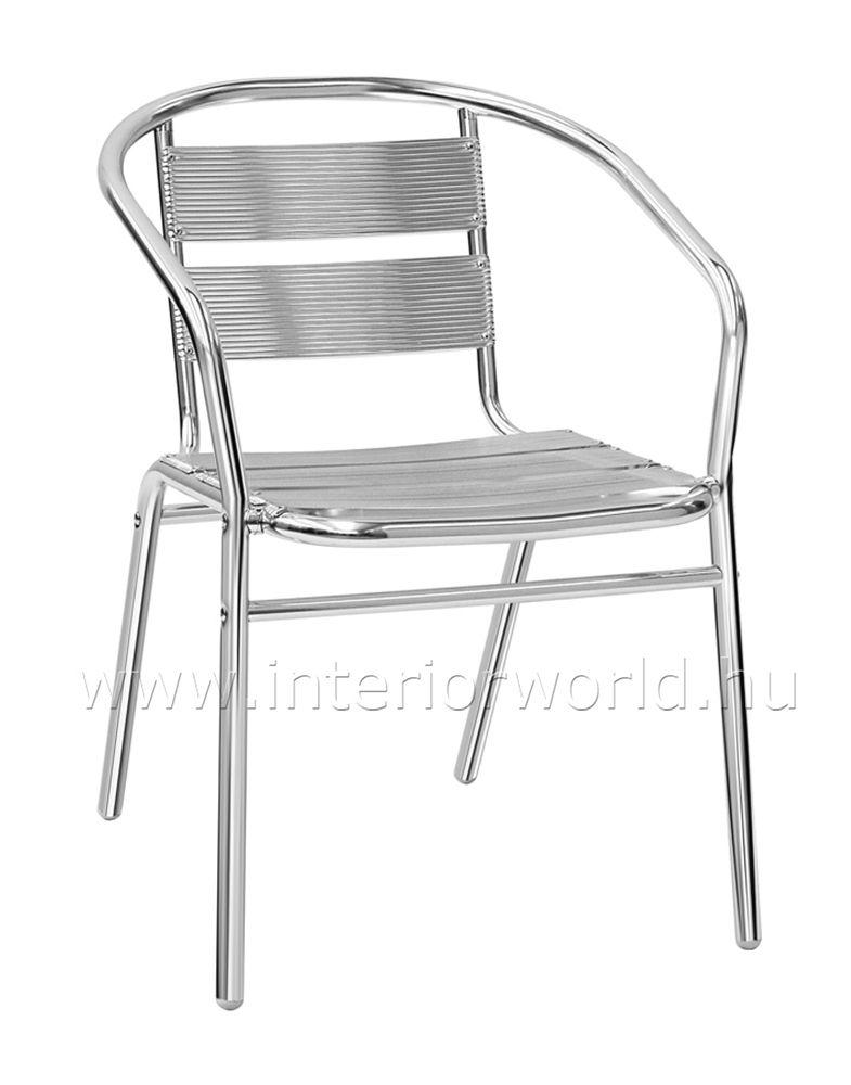 ALLUN kültéri alumínium karfás szék Kültéri & kerti